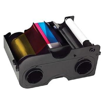 Amazon.com: Fargo 45000 DTC1000 YMCKO Ribbon with Cleaning Roller ...