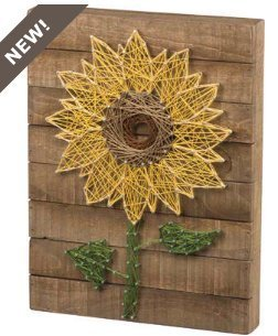 Primitives By Kathy, String Art - Sunflower