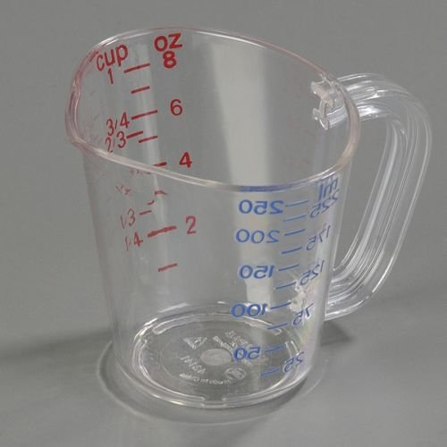 Cup Size Clear Polycarbonate Commercial Measuring Cup -- 1 each