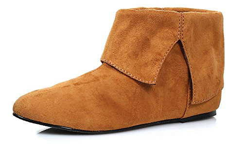 0 Inch Heel Children's Microfiber Boot (Tan;Medium)