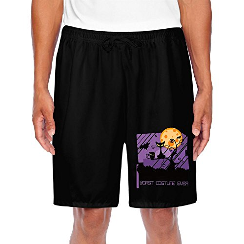 Shorts Sweatpants Worst Costume Ever Halloween Scared Black CatSport Short Pants For Man