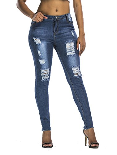 Arizona Carpenter Shorts (Goldfly Jeans For Women, Sexy Blue Skinny Girl Ripped Jeans High Waisted Stretch Distressed Denim Pants Slim Fit Womens Pants)