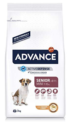 ADVANCE Senior Mini – Pienso Para Perros Senior De Razas Pequeñas Con Pollo – 3 kg