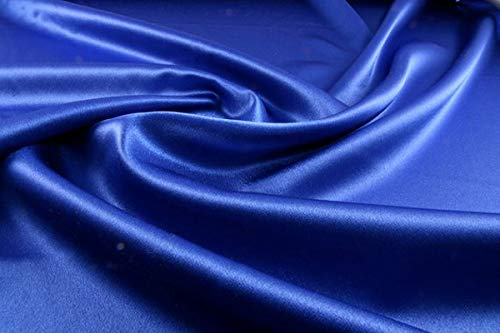 VDS - 10 Yard Charmeuse Bridal Solid Satin Fabric for Wedding Dress Fashion Crafts Decorations Silky Satin 44
