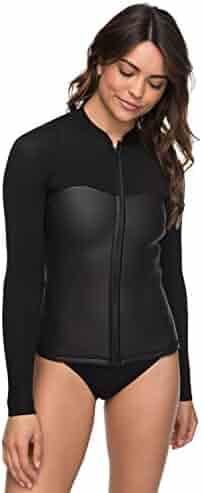 7c20f5eae9 Roxy Womens 2Mm Satin Front Zip Wetsuit Top for Women Erjw803009
