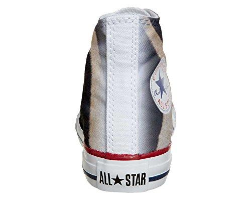 Converse PERSONALIZZATE All Star Hi Canvas, Sneaker Uomo/Donna (prodotto Artigianale) Zebrate