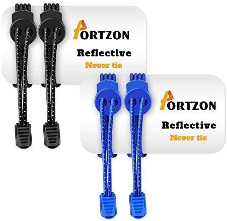 Portzon Shoelaces Elastic Reflective Sneakers product image