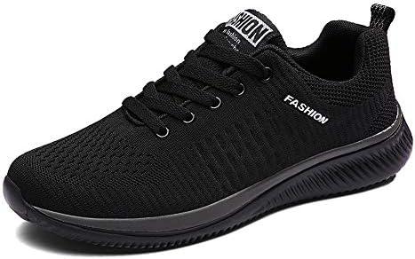 スニーカー ランニングシューズ スポーツシューズ メンズ レディース ジム トレーニング 運動靴 超軽量 カジュアル メッシュ 通気 黒 ブラック 4色