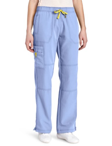 WonderWink Women's Scrubs Four Way Stretch Sporty Cargo Pant, Ceil Blue, Large (Best Medical Scrubs Brands)