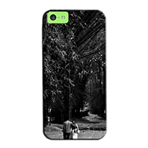 Romantic Stroll Black Protective Hard Case For Iphone 5c TPU Black And White
