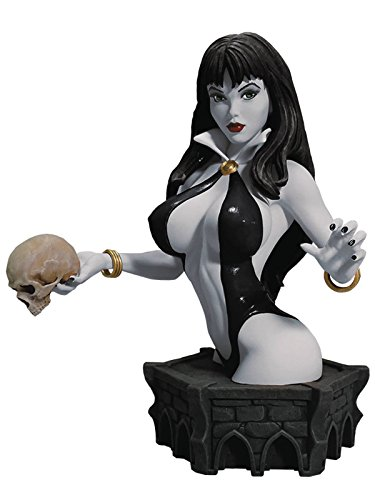 Women Of Dynamite Vampirella Limited Edition Bust By Arthur Adams 7 1/2 Inches (Black and White (Limited Edition Bust)