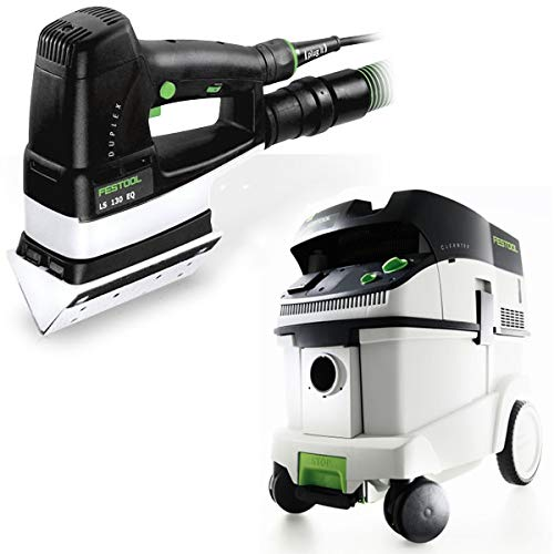 Festool P36567852 Duplex Linear Detail Sander with CT 36 E 9.5 Gallon HEPA Mobile Dust Extractor -