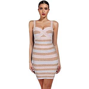 whoinshop Women's Cute Mini Spaghetti Strap Celebrity Club Party Bandage Dress