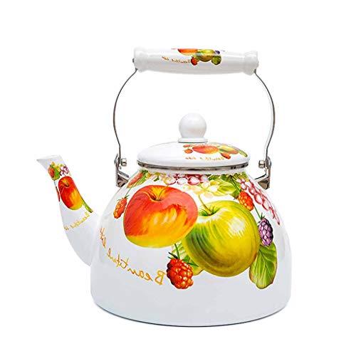 Large Capacity 4L Enamel Kettle Home Porcelain Kettle Induction Cooker Gas General Coffee Pot Teapot