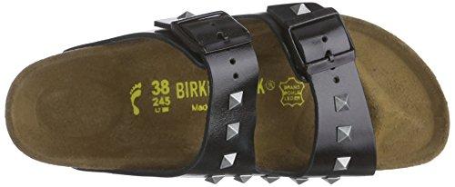 Birkenstock Arizona Leder - Mules Unisex adulto Negro - Schwarz (Studded Schwarz)