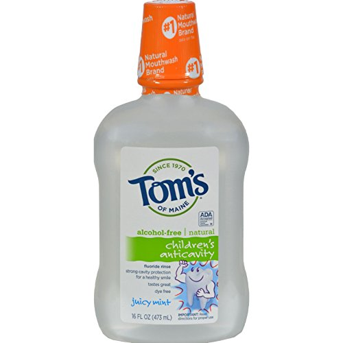 Tom's of Maine Children's Anticavity Fluoride Rinse Juicy Mint - 16 fl oz