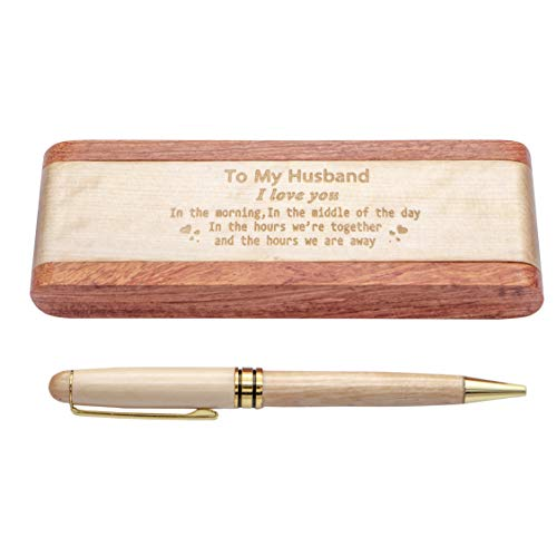 Personalized Maple Wood Pen Set For Husband - Engraved