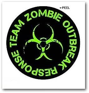 Amazon.com: Zombie Outbreak Reponse Team Green Black ...