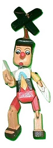 Marionette Pinocchio - Pinocchio Marionette Puppet Hand Carved Wood small 8