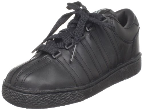 K-Swiss 801 Classic Tennis Shoe ,Black/Black,4 M US Big Kid
