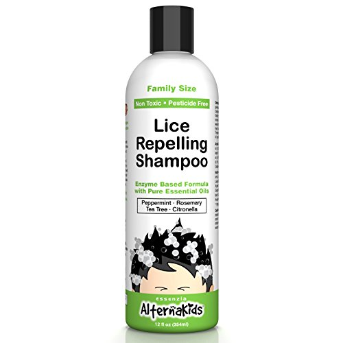 Natural Head Lice Shampoo by AlternaKids - Non-Toxic Hair Treatment That Kills, Removes, Prevents Super Lice and Nits | for Kids and Adults (12 oz ()