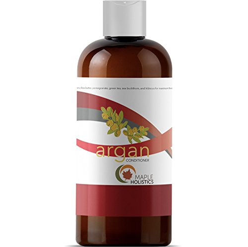 Argan Oil Deep Conditioner for Damaged Hair Pure Shea Butter Jojoba Oil Organic Pomegranate for Women Men Kids Natural Sulfate Free Dry Hair Moisturizer Anti Breakage Thickening Family Size -16 ()