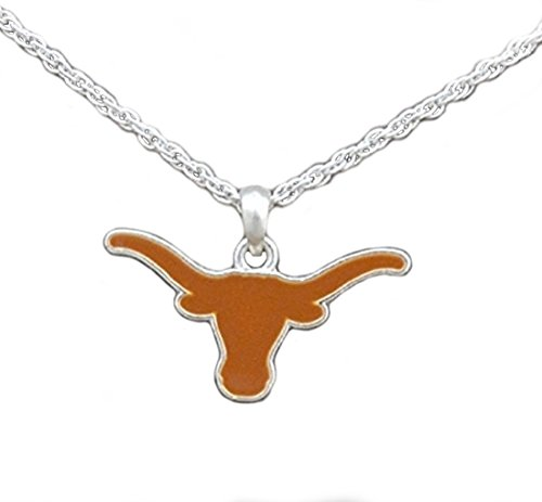 Texas Longhorn Bevo Costume (Silver Tone Necklace with Texas Longhorn Enamel Charm)