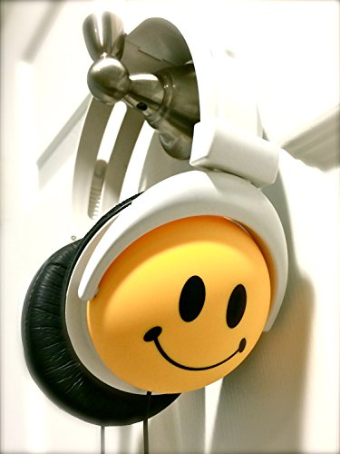 Original AUTHENTIC HAPPY CANZ Smiley Face Emoji Foldable Fully Adjustable Over-Ear Padded Headphones by Roxant by Roxant (Image #3)