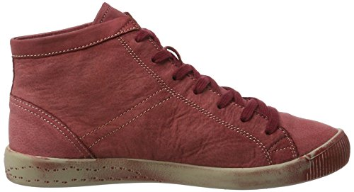 Donna Collo Softinos Washed Sneaker A Alto scarlet Rosso Isleen xCTqCwS
