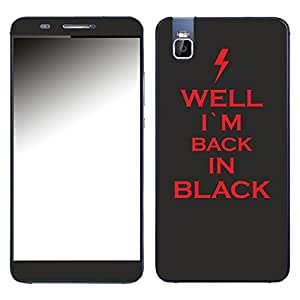 """Motivos Disagu Design Skin para Huawei ShotX: """"WELL I´M BACK IN BLACK"""""""