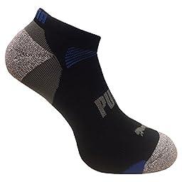 Puma Mens Low Cut All Sport No Show Socks 6-Pair (Shoe Size 6-12, Black/Grey)