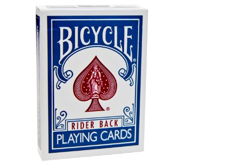 theory11 Bicycle Titanium Playing Cards (Steel Blue/Crimson Red, 3.5 x 2.5-Inch)