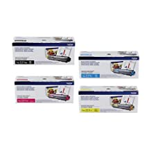 Brother OEM TN-221BK, TN-221C, TN-221M and TN-221Y. (Black,Cyan,Magenta,Yellow , 4-Pack)