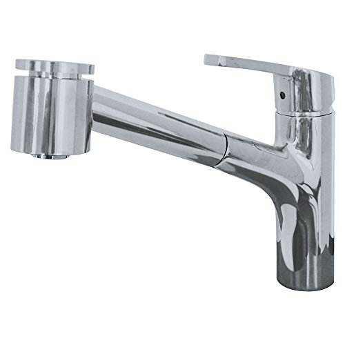 Franke FFPS20280 Sion Single Handle Pull-Out Kitchen Faucet, Satin Nickel