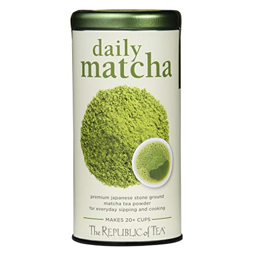 The Republic of Tea Japanese Daily Matcha Powder, Non-GMO Verified (1.5 Ounce Tin)