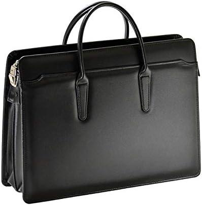 国産 ビジネスバッグ ブリーフケース メンズ 大容量 自立 A4 日本製 豊岡製鞄 通勤 ビジネス 鍵付き 黒 ブラック +オリジナル高級ムートングローブ