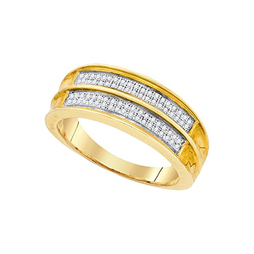 Mens 1/5 Ct T Diamond Band - 8