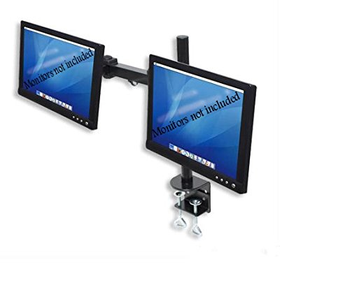 Dual LCD Monitor Stand desk clamp holds up to 24-Inch lcd monitors
