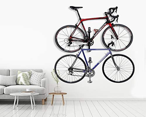 Borgen Gancho de Pared para Colgar Bicicleta para Pedal Bici Eléctrica, Bicicleta de Carretera, MTB Gancho de Pared con Ángulo de Apoyo y Almohadillas de Protección de Pared: Amazon.es: Bricolaje y herramientas