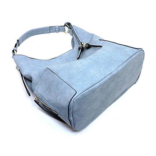 Zip Republic Black Handbag Hobo Handbag Side qxTgEUyywS