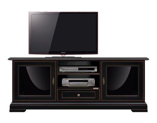 Porta Tv In Stile Classico.Mobile Porta Tv Nero In Stile Classico Con Laccatura Nera Ad