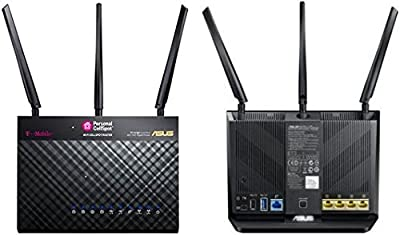 T-Mobile T-Mobile (AC-1900) By ASUS Wireless-AC1900 Dual-Band Gigabit Router, AiProtection with Trend Micro for Complete Network Security (Certified Refurbished) by Asus