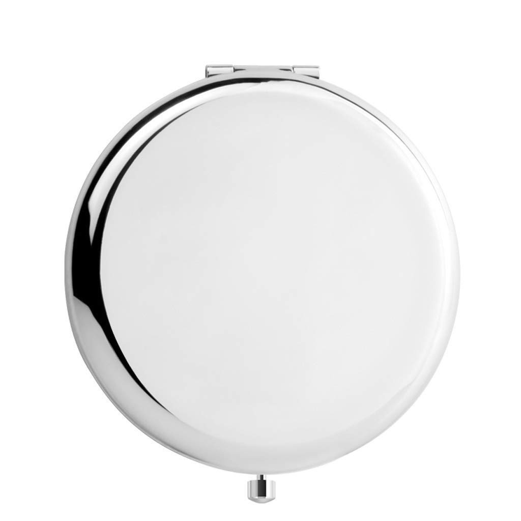 HUACANG Simple Fold Mini Makeup Mirror Portable Student Mirror Girls Double-Sided Makeup Mirror Gift Metal Mirror