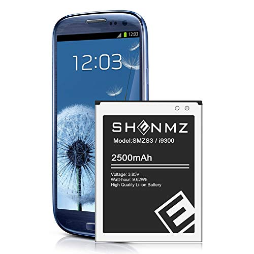 S3 Battery,Upgraded 2500mAh Replacement Battery for Samsung Galaxy S3,EB-L1G6LLU,Verizon I535 i9300,T-Mobile T999,Sprint L710,AT&T I747,R530,LTE I9305 [3 Year Warranty]