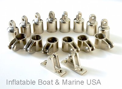 Bimini Top Fittings Kit / Set Hardware - 4 Bow- 7/8'' 316 Marine Stainless Steel by Inflatable Boat & Marine USA