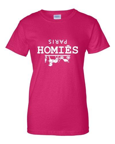Large Heliconia Womens Homies Paris T-Shirt