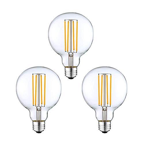 3 Pack - Modvera G25 LED Globe Edison Bulb 40 Watt Equivalent -