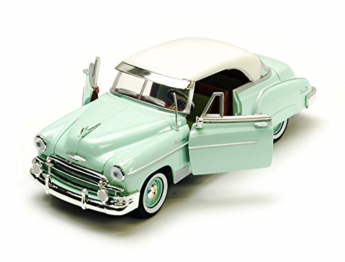 (1950 Chevy Bel Air, Green - Motormax Premium American 73268 - 1/24 Scale Diecast Model Car)