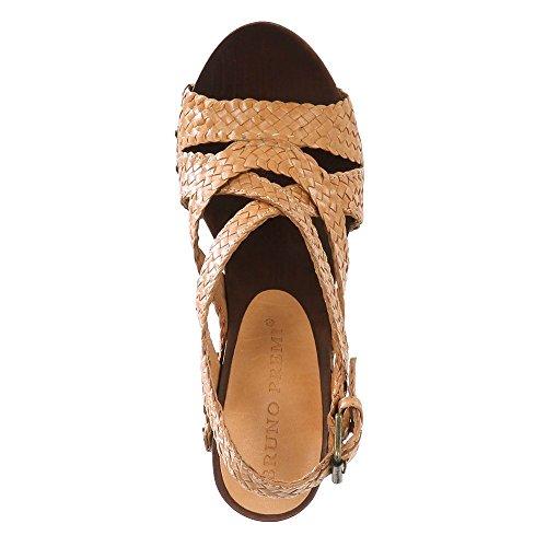 Bruno PREMI Mujer Plateau de sandaletten Intreccio Amarillo 12cm amarillo