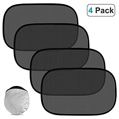 Car Window Shade (4 Pack), Cling Car Window Baby Sun Shade Protects Your Baby and Older Kids from The Sun, 80 GSM Car Sun Shade Protect from Sun UV Radiation, Light and Heat: Automotive